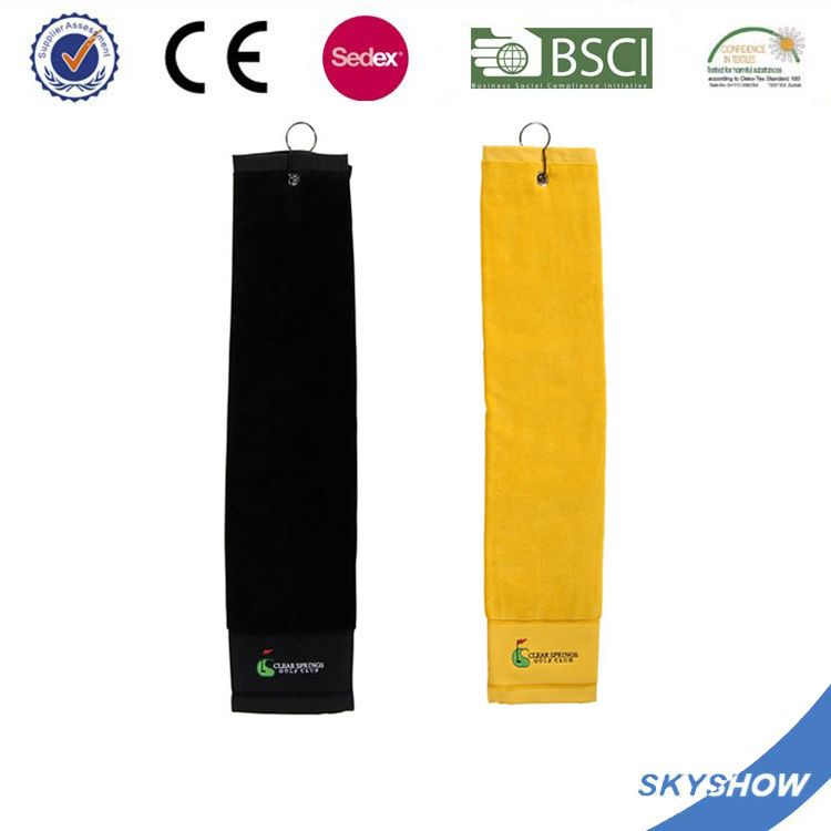 Promotion Personalized Latest Fashion Golf Towel With Stripe