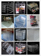 clear acrylic compartment drawer &cosmetic makeup organizer