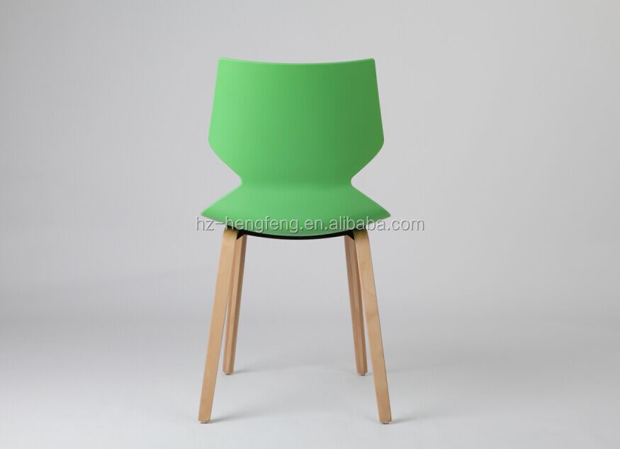 2016 new design dining room use plastic wooden chair
