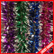 whole sale foil shiny christmas decoration garland