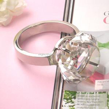 Wholesale flower crystal diamond napkin ring holder for wedding table decoration