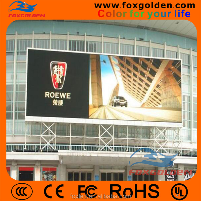 HD full color p10 true color tv led screen for advertising board replacement