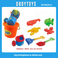 All kinds beach plastic toys for kids with beach bucket
