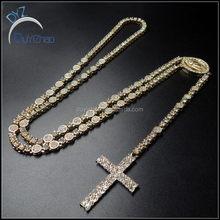 custom hip hop gold plated rosary necklace
