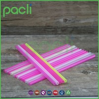 Plastic assorted colors/black giant drinking straws