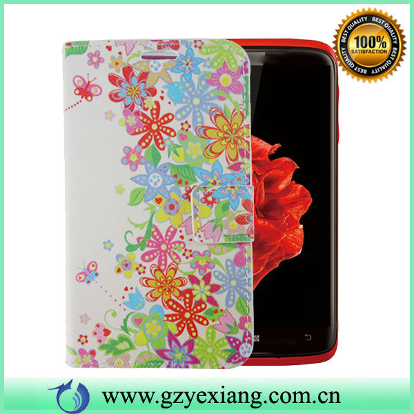 High Quality Wallet Cover Mobile Phone Leather Flip Case For Lenovo S820