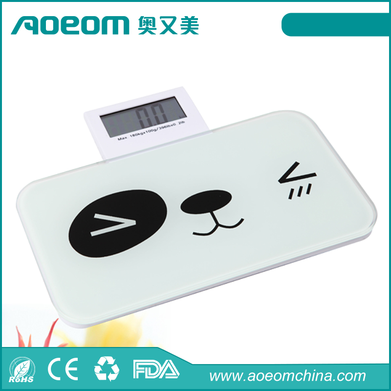 Portable pocket mini digital body weighing scale for promotional gift with folded LCD display 150kg/330lb