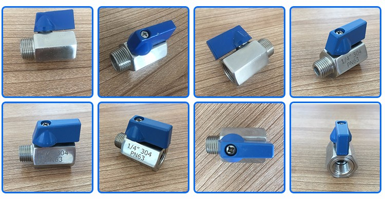 Stainless steel screwed mini ss gas ball valve