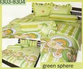 Bedcover Green sphere