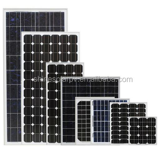 200 watt Mono Crystalline Photovoltaic Solar Panel for grid tied solar system