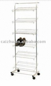 2016 Mannufacturer china cheap pull out shoe standing rack holder for sale