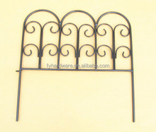 Mini Decorative garden fence wrought iron landscape border fence, rustic