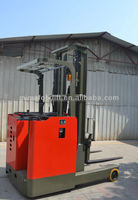 Chinese battery popular stand on reach forklift truck 2500kg 7500mm lift height with OEM TF25 model