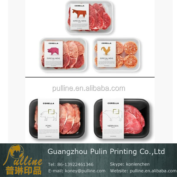 Private label customized meat packaging label