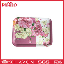 China supplier best gift decorative melamine food tray, rose printing plastic rectangle indian wedding trays