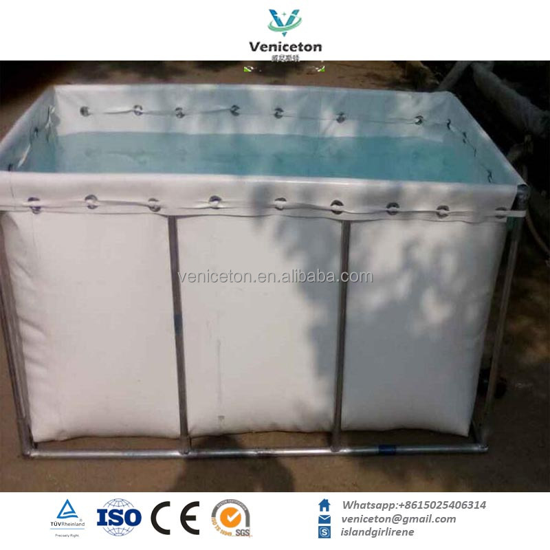 PVC foldable and collapsible plastic canvas round fish tank