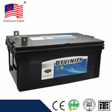 China manufacturer N200 heavy duty truck sealed lead acid battery 12v200ah