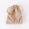 Wholesale/ Custom suede dust bag pouch with flap iphone