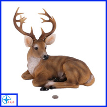Newest resin lying deer statue for garden decoration
