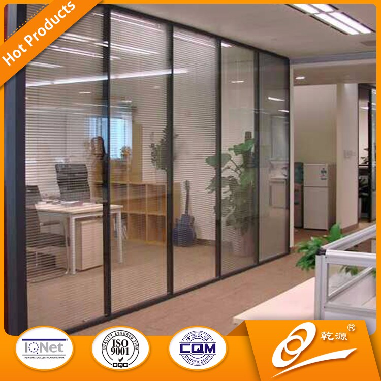 office modular interior glass laminated low partition wall