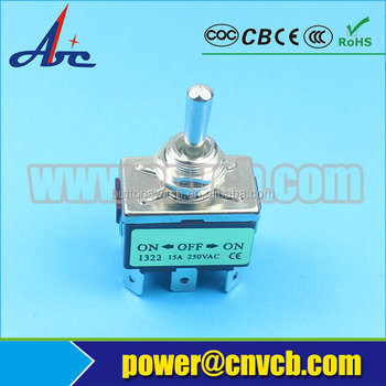TS34 KN3(C)-103P KN3(C)-123P 3 way 220VA 6A center off toggle switch