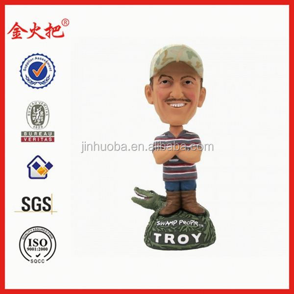 promotion polyresin swamp people troy cartoon figures
