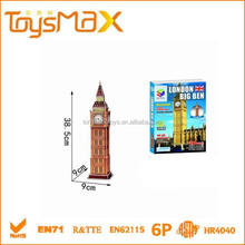 Coated + EPS 3d puzzle london tower bridge with EN71