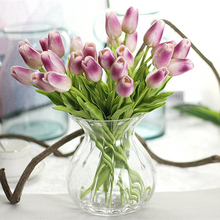 High grade single stem pu tulip artificial flower table wedding centerpieces