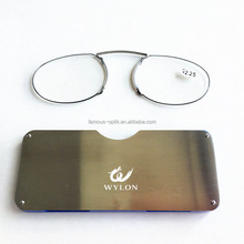 JH002 TR90 thin optics pocket reading glasses mini reading glasses stick on cellphone mobile reading glasses without arms