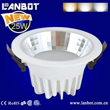 Surface mounted round downlight motion sensor 25w adjustable led recessed light