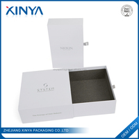 XINYA Custom printing Empty White Beautify Cosmetic Drawer Cardboard Paper Packing Box