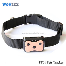 Latest gps tracking devices for pets dog cat GPS smart pet trakcer PT01 gps tracker Wonlex pet tracker for Dog cat cow sheep