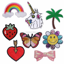 Cheap Multicolor Designed Fashion stylish custom embroidered iron sequin patch