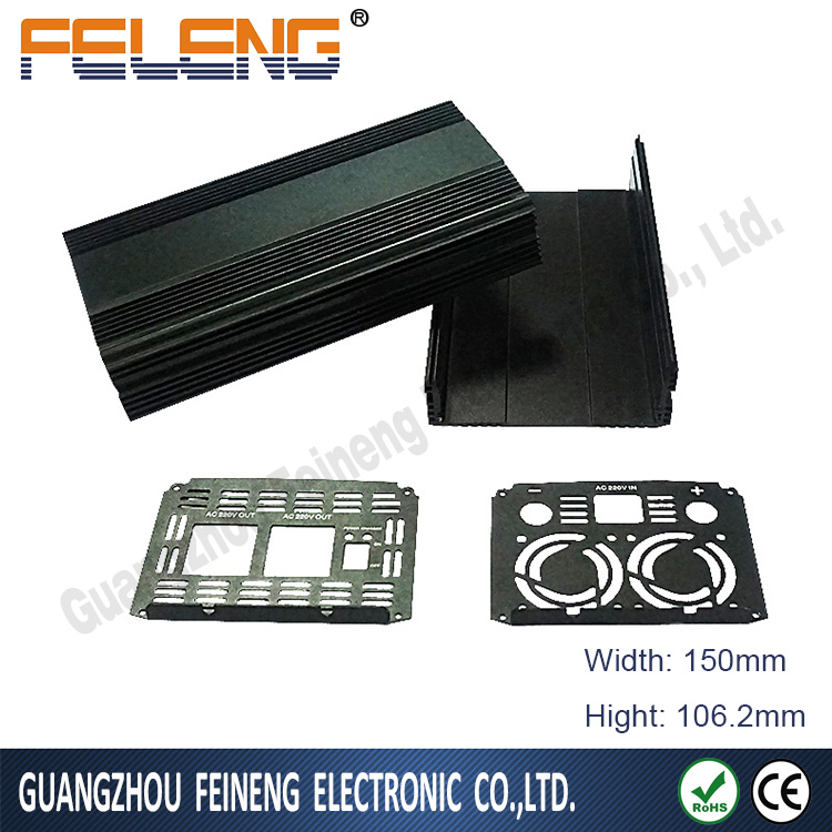 Power Supply OEM Precision Electronic Box/extrusion enclosure for aluminum