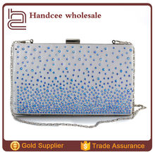 Wholesale fashion style women clutch/ cheap pu designer clutches/ elegance Crystal evening clutch/