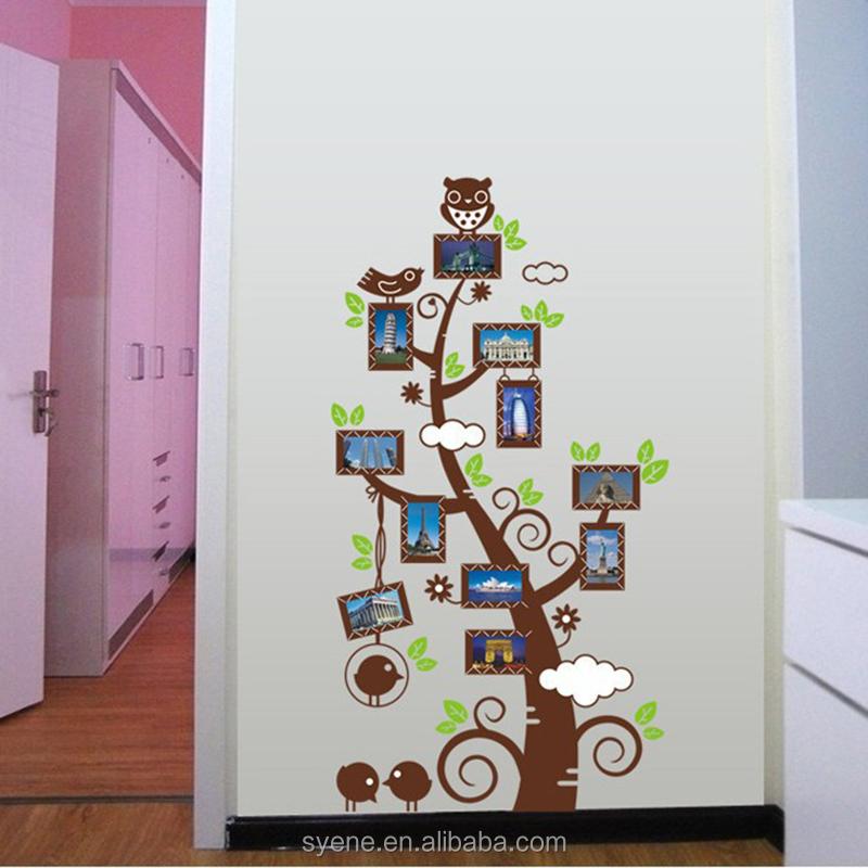 neue baum kunst wand papier mode abnehmbare fotorahmen stammbaum 3d vinyl hauptwandaufkleber f r. Black Bedroom Furniture Sets. Home Design Ideas
