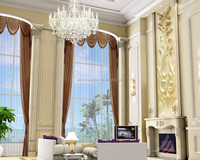 2015 luxury living room window curtain for christmas