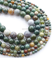 Big factory professional supplier wholesale precious stone 4 6 8 10 12 14mm popular india agate faceted beads for jewelry making