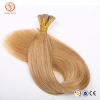 2016 New Arrival Full Cuticle Double Drawn Brazilian Hair Ombre I Tip Hair Extension For Cheap