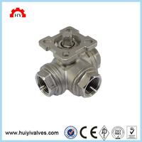 3 inch stainless steel 304 3-way 12 v motorized ball valve