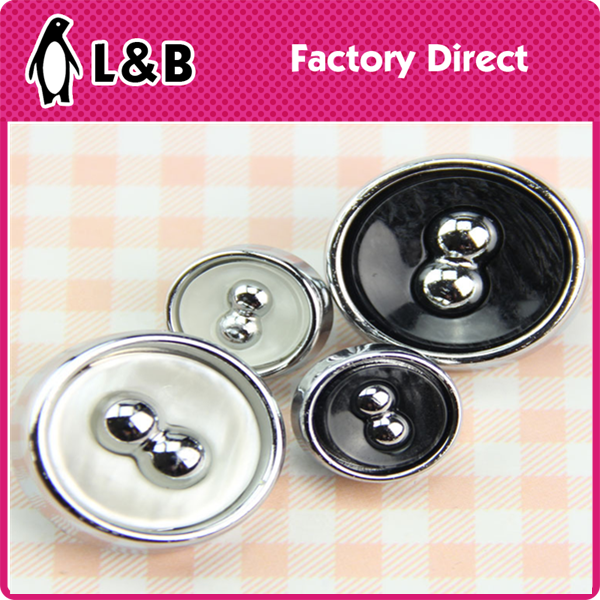 2015 new design fashion polyester coat button with bead