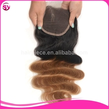 Alibaba Cheap Lace Closure Body Wave Brazilian Ombre Blonde Hair Closure Piece