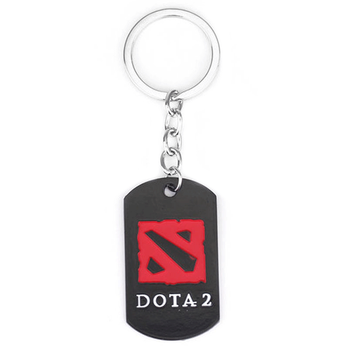 Custom zlloy dog tag enamel dota 2 keychain by manufacturer
