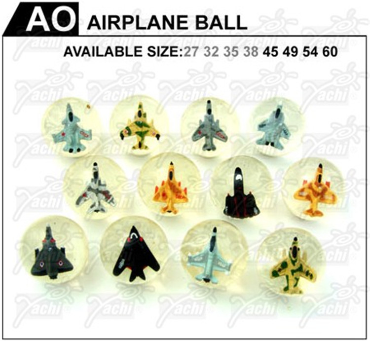 Most popular different types children toy 3D airplane bouncing ball