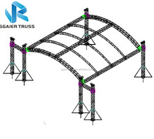 Global stage 6pillars / 6 leg truss system with line array fly system
