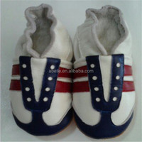 Latest Design OEM ODM Customized Genuine Leather Baby Boy moccasins Cute soft leather baby shoes 2015