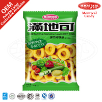 Vegetable&chicken flavoured snack ring rice crisp