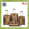 Alibaba Express High Quality PU Luggage Two Wheels With Duffel Bag Suitcase Set