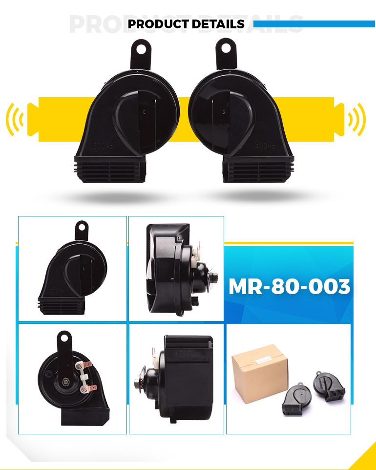 MrHorn 12V super sound waterproof electric auto horn with 100% copper coil and german material MR-80-003