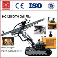 HC420 Powerful rotation cawler ground protable drill machine for sale